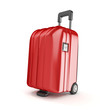 red suitcase isoalted