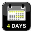 Schwarzer Button - 4 Tage