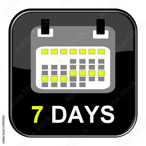 Schwarzer Button - 7 Tage
