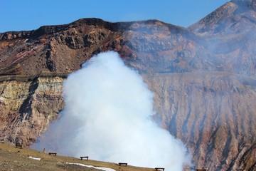 阿蘇 中央火口の噴煙