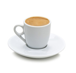 greek coffee in a white cup(path)