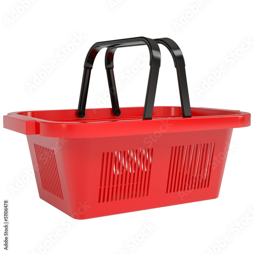 Red shopping basket