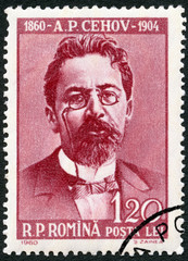 ROMANIA - 1960: shows Anton Pavlovich Chekhov (1860-1904)