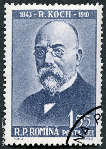ROMANIA - 1960: shows Robert Koch (1843-1910)
