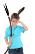 Child playing bow and arrows