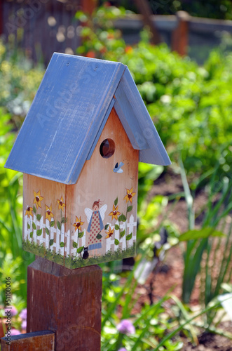 Decorative wooden birdhouse