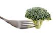 brocoli sur une fourchette