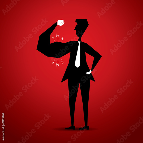man showing his muscle stock vector
