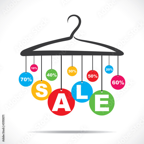 colorful hanging sale text stock vector