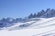 snow and chair lift at Pale range, San Pellegrino pass