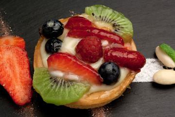 Pasticcino alla crema con frutta