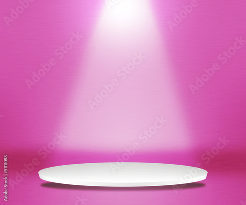 Round Podium Pink Background