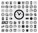 Fototapety clocks icon