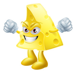 Angry cheese man
