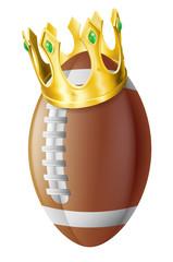King of football illustration