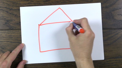 drawing a house