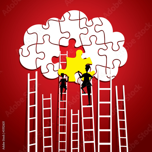 cloud computing concept stock vector