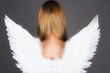 girl with angel wings