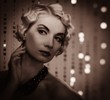 Toned portrait of elegant blond retro woman