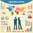 Elementos infográficos para presentación de negocios