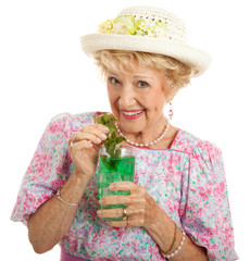 Kentucky Senior Lady with Mint Julep