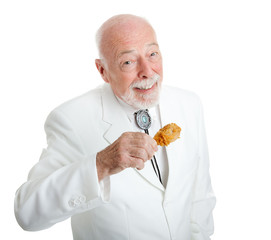 Southern Gentleman Eats Fried Chicken