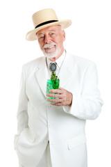 Kentucky Colonel Enjoys Mint Julep