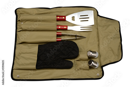 Barbecue utensils. Isolated
