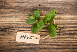 Mint with label