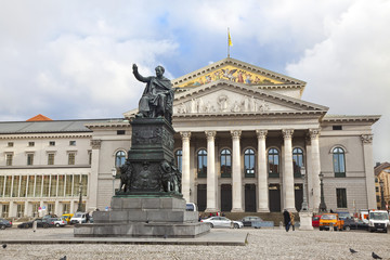The national theatre of Munich. Germany