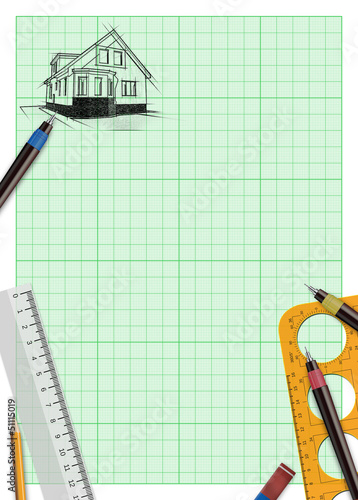 family house project plan background