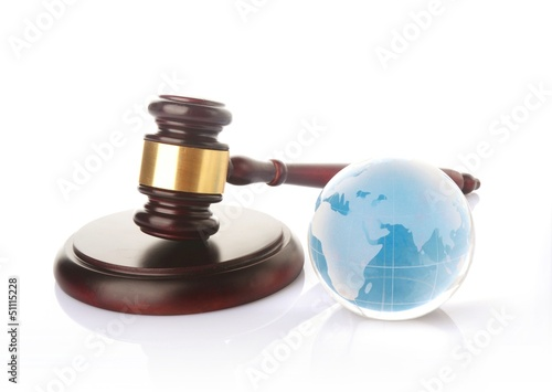 globe with gavel