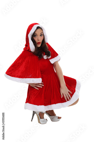 Woman dressed in festive costume