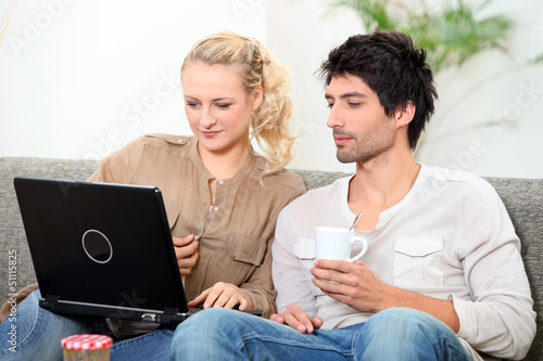 Couple on laptop