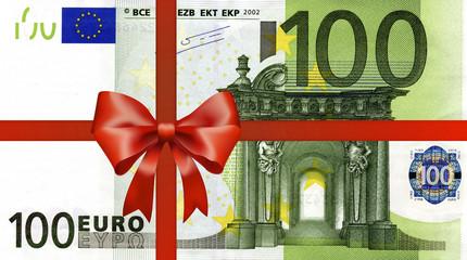100 Euroschein mit Geschenkband