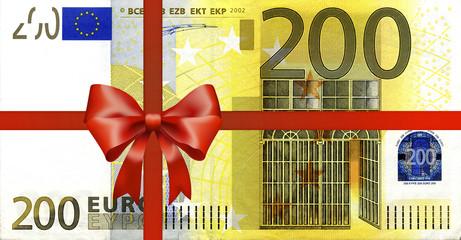 200 Euroschein mit Geschenkband
