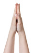 female teen hand praying