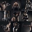 Bodybuilding image collage