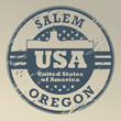 Grunge rubber stamp with name of Oregon, Salem, vector