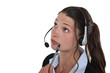 Pensive receptionist