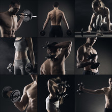 Bodybuilding collage image