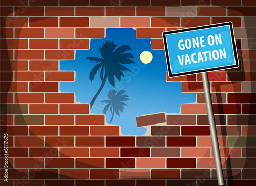 Gone on Vacation, vector