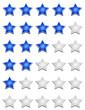 Fünf Sterne Bewertungssystem - Blau Weiß