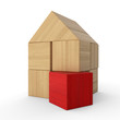Holzhaus Baustein Konzept - Rot 4