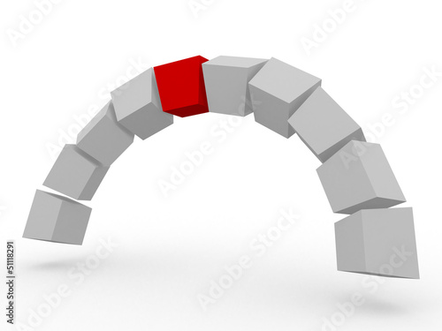 Illustration of abstract 3d shapes