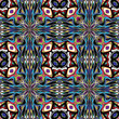 Native American vector pattern with ancient motifs