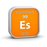 Einsteinium material sign