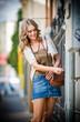fashion urban portrait of beautiful model on the street