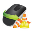 construction barrier Wireless computer mouse