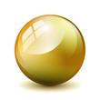 Glas Kugel Gold
